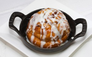 Wood-Fired Cinnamon Roll. Dessert at Ad Lib in Harrisburg