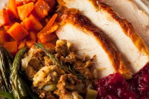 Thanksgiving at Ad Lib includes Family Style Entree Cider Brined Turkey (White and Dark Meat) Traditional Sage Stuffing Giblet Gravy Cranberry Relish