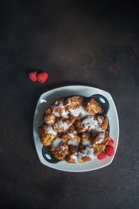 Monkey Bread with fresh berries at Ad Lib Brunch in Harrisburg