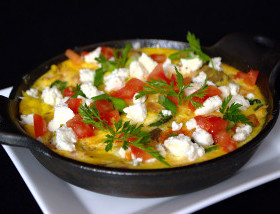 Salmon Florentine Frittata withSpinach, Tomato, Capers, Feta at Ad Lib Brunch in Harrisburg