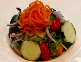 House Salad with Carrots, Red Onion, Cucumber, Balsamic Vinaigrette at Ad Lib in Harrisburg